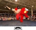 Elmo Wrestling by xss3