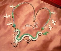 Spirited Away: Haku the Dragon - Necklace II by Ganjamira