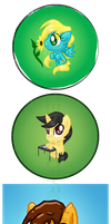 Pony Button Commissions by LinksLove