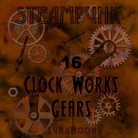 Steampunk Watch Gear Brushes by LunaMoon9