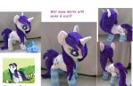 Wet mane rarity with scarf and socks LARGE plush by Epicrainbowcrafts