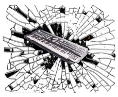 Keyboards painting by SpiritOnParole