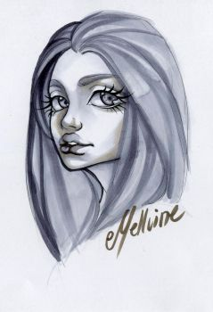 Copic Portrait by Mellvine