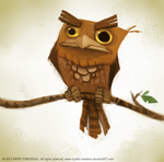DAY 345. Frogmouth by Cryptid-Creations