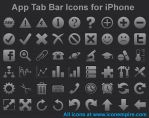 App Tab Bar Icons for iPhone by Ikonod