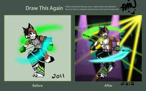 Draw This Again: Blitz by RayaWolf