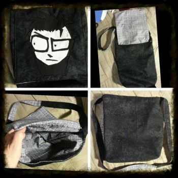 Johnny The Homicidal Maniac Messenger Bag by MoonlightMoth