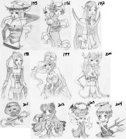 drawings 195-204 by unsolvedenigma