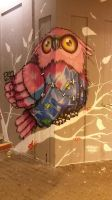 Owl Graffiti in Kassel by meepnitreal