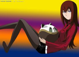 Kurisu in Red by Karinkoenig15