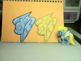 Lead and Wing Wonderbolt Patches by ScrwLoose