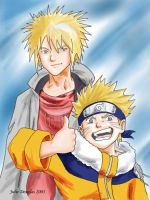 Naruto: Yondaime and Naruto by Aleana