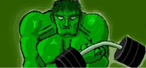 The Hulk -facebook graffiti- by Zortov