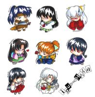 Inuyasha Chibi Key Designs by KimKTN