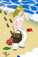 Picnic at the Beach -colored- by Kaze-Breeze-Katakage