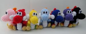 Yoshis by gwilly-crochet