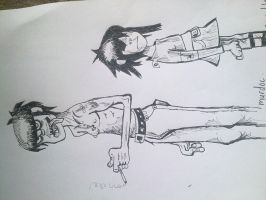 Cath20 006murdoc and noodle by cathlupalouise
