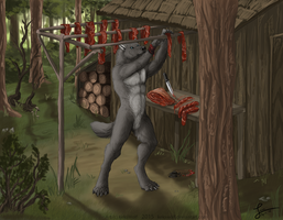The Hunter's Shack - Commission by KeksWolf