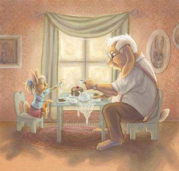 Using Grandma's Good China by GoldenDruid