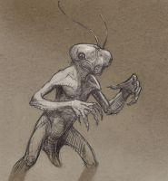 Insect alien by Mavros-Thanatos