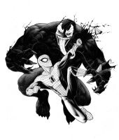 spidey vs venom by ArminOzdic