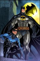 Batman and NightWing by Redpen