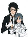 ciel and sebby colored by bluefire23