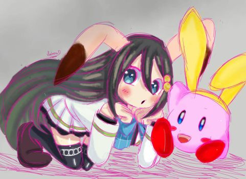 Reina and Kirby by sarcastic-crimson