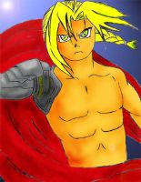 Edward Elric colored by AmericanMuscleV8