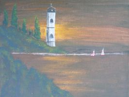 Brown sky lighthouse by Ym2d