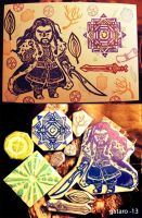 Thorin rubber stamps art print by gataro