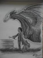 Snape and the Dragon by Armadeo