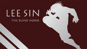 The Blind Monk Silhouette - Red - 1920x1080 by urban287