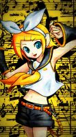 FREE Kagamine Rin iPhone 5 Wallpaper by temarisgiantfan101