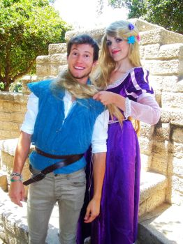 Flynn and Rapunzel by xAleux