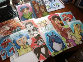Marker sketches by khallion