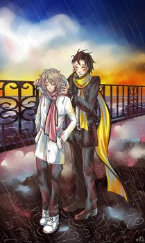 [P3xTWEWY] Walk in the rain by Nayru-chan