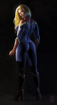 Captain Marvel by ClevelandH