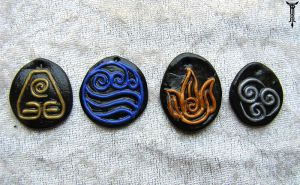 Avatar nation symbol pendants by TrollGirl