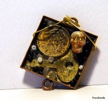 Recycling old necklace by Kruczkowska
