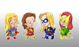 One Super and Three Marvels by adventuresofp2