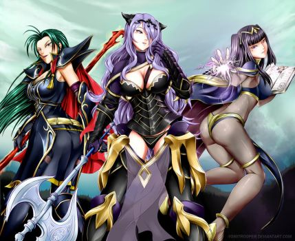 Tough and Beautiful Fire Emblem Gals by YomiTrooper