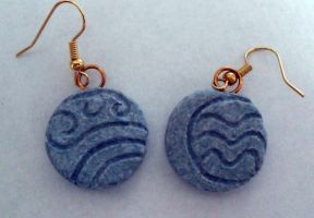 Stone Water Tribe Earrings by PsifiGirl