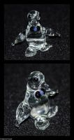 Glass Penguin with Bow Tie by SabrinaFranek
