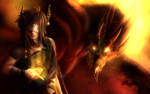 ...::: Fire - Dragonish :::... by AmorpheusArt