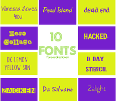 Font Pack 2 by foreverdirectionerr