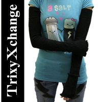TX Black Cable Arm Warmers by TrixyXchange