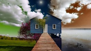Sittin' on the Dock of the Bay by jesus-at-art