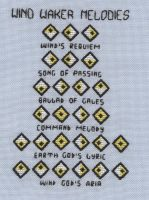 Zelda Wind Waker Melodies cross stitch by Lil-Samuu