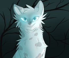 Ashfur if he went to the dark forest by Hatchetfishies
